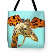 Dragon And Giraffe Tote Bag