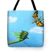 Dragon And Kite Tote Bag