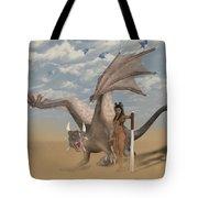 Dragon And Master Tote Bag