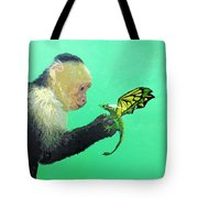 Dragon And Monkey Tote Bag