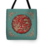 Dragon And Phoenix Tote Bag by Kristin Elmquist