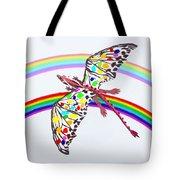 Dragon And Rainbow Tote Bag