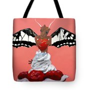 Dragon And Strawberry Tote Bag