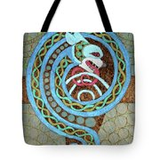 Dragon And The Circles Tote Bag