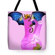 Dragon And Vase Tote Bag