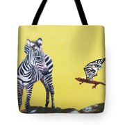 Dragon And Zebra Tote Bag