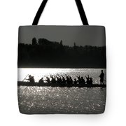 Dragon Boat Silhouette Tote Bag by Stuart Turnbull