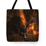 Dragon Flame Tote Bag by Solomon Barroa