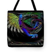 Dragon Flying Tote Bag