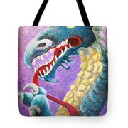 Dragon In Dots Tote Bag