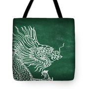 Dragon On Chalkboard Tote Bag by Setsiri Silapasuwanchai