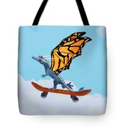 Dragon On Skateboard Tote Bag