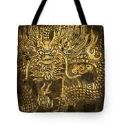 Dragon Pattern Tote Bag by Setsiri Silapasuwanchai