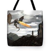 Dragon Scenery - 3d Render Tote Bag