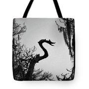 Dragon Shaped Tree Tote Bag