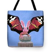 Dragon With Bunny Ears Tote Bag