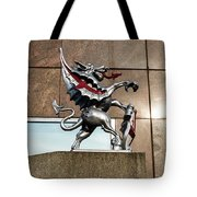 Dragon With Red Cross Tote Bag