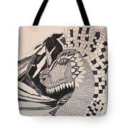 Dragon - Zentangle 16-04 Tote Bag