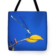 Dragonfly And Leaf Tote Bag