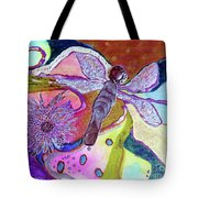 Dragonfly And Mum Tote Bag
