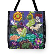 Dragonfly And Unicorn Tote Bag by Genevieve Esson