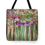 Dragonfly Bloomies 1 - Pink Tote Bag