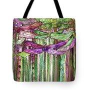 Dragonfly Bloomies 2 - Pink Tote Bag
