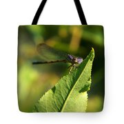 Dragonfly Called Funny Face Tote Bag