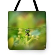 Dragonfly Dream In Green Tote Bag