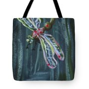 Dragonfly From River Mural Tote Bag