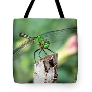 Dragonfly In The Flower Garden Tote Bag