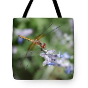 Dragonfly In The Lavender Garden Tote Bag