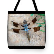 Dragonfly In The Sand Tote Bag