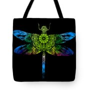 Dragonfly Kaleidoscope Tote Bag by Deleas Kilgore