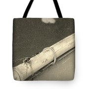 Dragonfly On Bamboo Oar Tote Bag