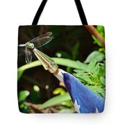 Dragonfly On Flag Tote Bag