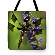 Dragonfly On Salvia Tote Bag