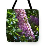 Dragonfly On The Butterfly Bush Tote Bag