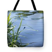 Dragonfly On The Lake Tote Bag