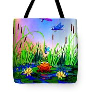 Dragonfly Pond Tote Bag by Hanne Lore Koehler