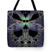 Dragonfly Queen At Midnight Fractal 161 Tote Bag