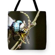 Dragonfly With Yellowjacket 2 Tote Bag