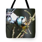 Dragonfly With Yellowjacket 3 Tote Bag