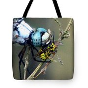 Dragonfly With Yellowjacket 4 Tote Bag