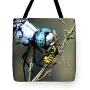 Dragonfly With Yellowjacket 5 Tote Bag