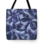 Dragons In Blue Mosaic Tote Bag