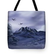 Dragons In Their Element. Tote Bag by Cynthia Adams