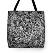 Dramatic Black And White Petals On Stones Tote Bag