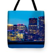 Dramatic Boston Skyline  Tote Bag