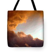 Dramatic Cloud Painting Tote Bag